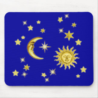 Sun, Moon & Stars Mouse Pad