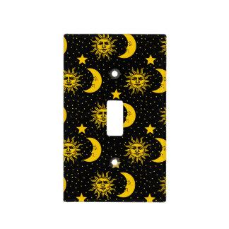 Sun Moon Stars Pattern Light Switch Cover