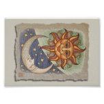 Sun Moon & Stars Photo Print