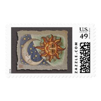 Sun Moon & Stars Stamps