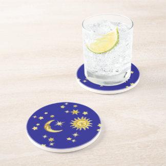 Sun, Moon & Stars Sandstone Coaster
