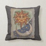 Sun Moon & Stars Throw Pillows