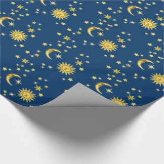 Sun, Moon & Stars Wrapping Paper