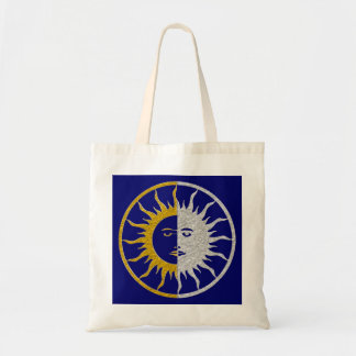 SUN & MOON Symbol - gold silver Tote Bag