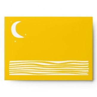 SUN MOON WATER Bar Bat Mitzvah Custom Envelope