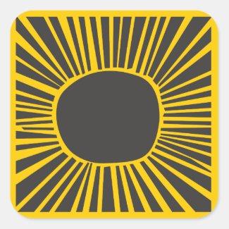 SUN MOON WATER Bar Bat Mitzvah Invitation Stickers