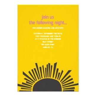 Sun Moon Water Bar Bat Mitzvah Small Party Card