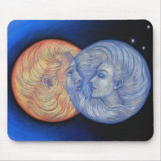Sun Moon yin-yang Man Woman Solar Eclipse Mousepad