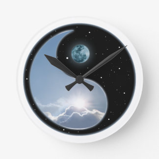 Sun And Moon Wall Clocks Zazzle