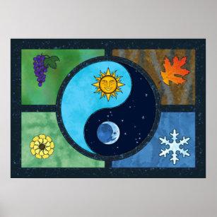 Art Yin Yang Symbol Posters Photo Prints Zazzle