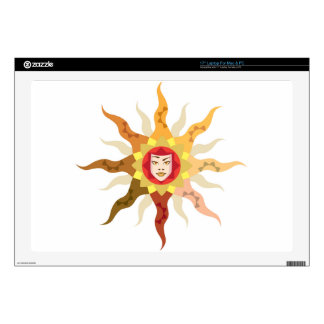 Sun Mother Nature abstract Decals For Laptops