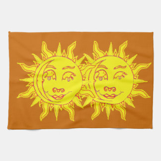 Sun Motif Kitchen Towel