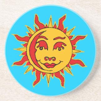 Sun Motif Sandstone Coaster