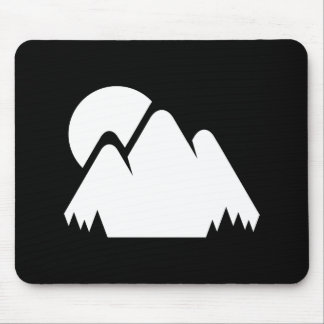 Sun & Mountains Pictogram Mousepad
