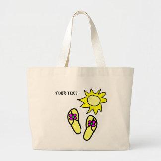 Sun n' Flip Flops Beach Tote Jumbo Tote Bag