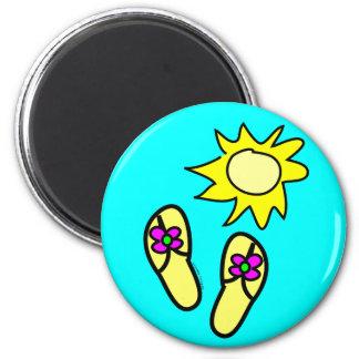 Sun n' Flip Flops Fridge Magnets