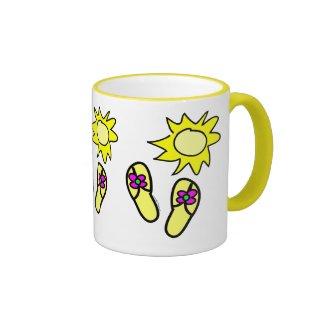 Sun n' Flip Flops Ringer Mug