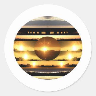 SUN n MOON Artistic Presentation Round Sticker