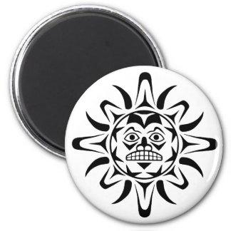 Sun Native American Design 2 Inch Round Magnet