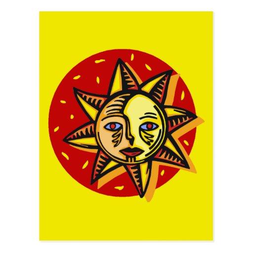 Sun observado azul postales