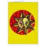 Sun observado azul tarjetón