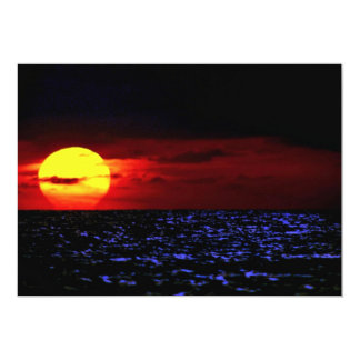 Sun, ocean card