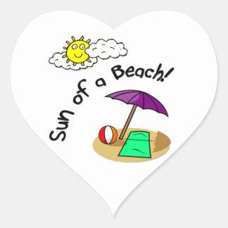 Sun of a Beach Heart Sticker