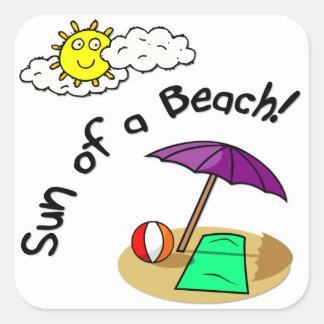 Sun of a Beach Square Sticker