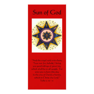 "Sun of God 001, ""And the angel said unto them, ... Rack Card"