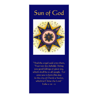"Sun of God 001, ""And the angel said unto them, ... Rack Card Template"