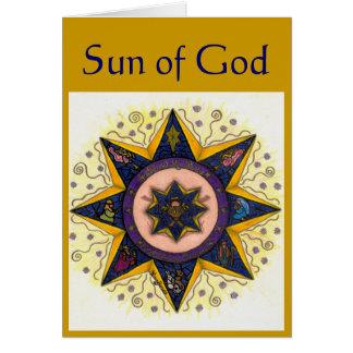 Sun of God Greeting Card