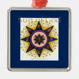 Sun of God  - Premium ornament square