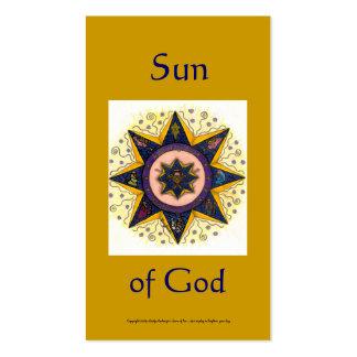 Sun of God Series #2 Business Card Templates
