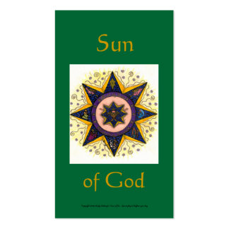 Sun of God Series #4 Business Card Templates