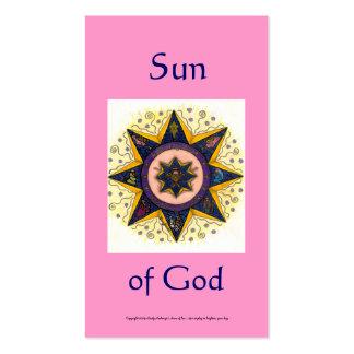 Sun of God Series #5 Business Card Template