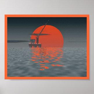 Sun of Oily Sea Poster