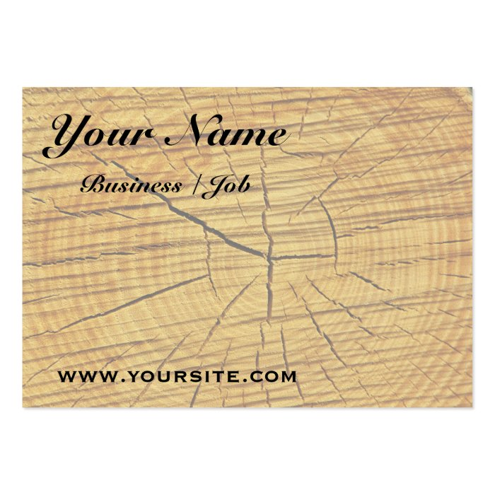 Sun of Wood Large Business Card
