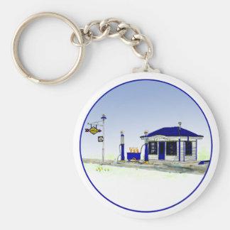 Sun Oil Station Keychain