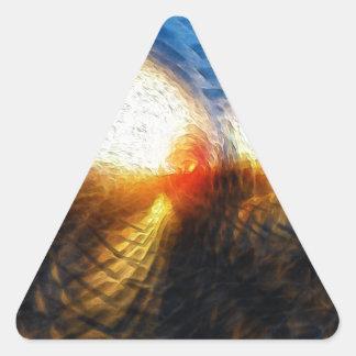 Sun On The Horizon Triangle Sticker