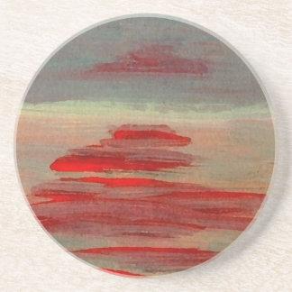 Sun on the Water Ocean Sunset Sunrise Seascape Coaster
