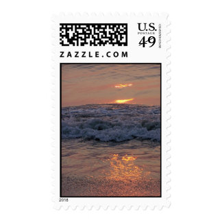 Sun on the Waves Postage Stamp