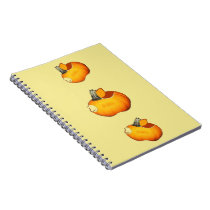 Sun Orange Pumpkin Notebook