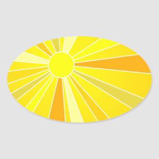 Sun Oval Sticker