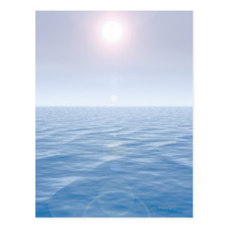Sun over sea postcard