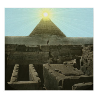 Sun Over the Great Pyramid Print