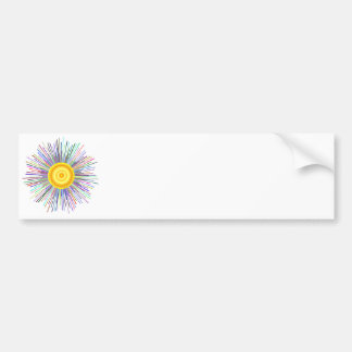 Sun Over The Moon Rainbow Fractal Bumper Sticker