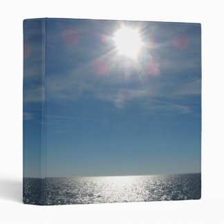 Sun Over the Ocean Photograph 3 Ring Binder