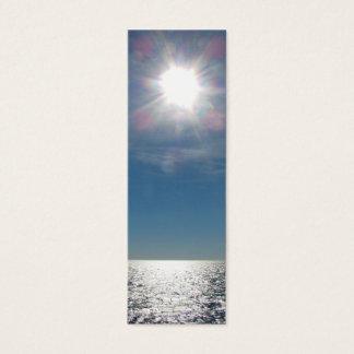 Sun Over the Ocean Photograph Mini Business Card