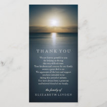 Sun Over the Ocean | Sympathy Thank You