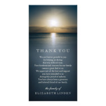 Sun Over the Ocean | Sympathy Thank You Card
